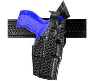 Safariland 6360 Level III ALS Retention Duty Holster, Mid-Ride, Black, STX Basketweave, Glock 17, 22 with ITI Streamlight M3 Light