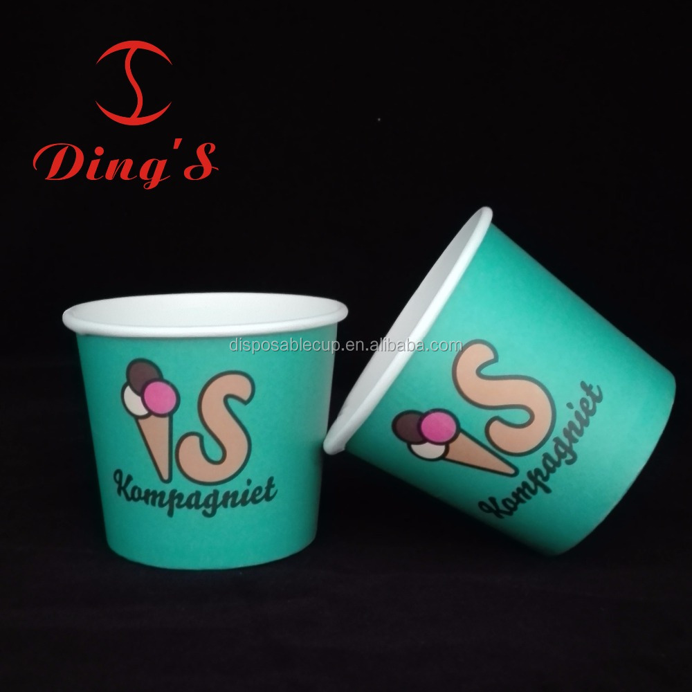Disposable ice cream cup using cold food paper soup bowl