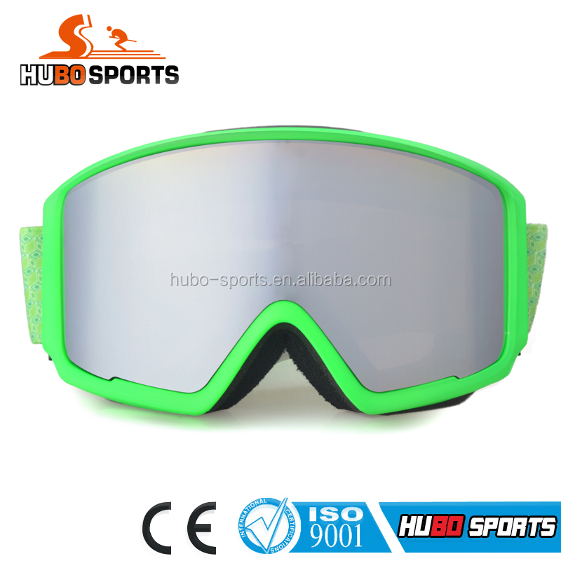 Interchangeable magnet lens/strap goggles mirrored polarized lens ski goggles