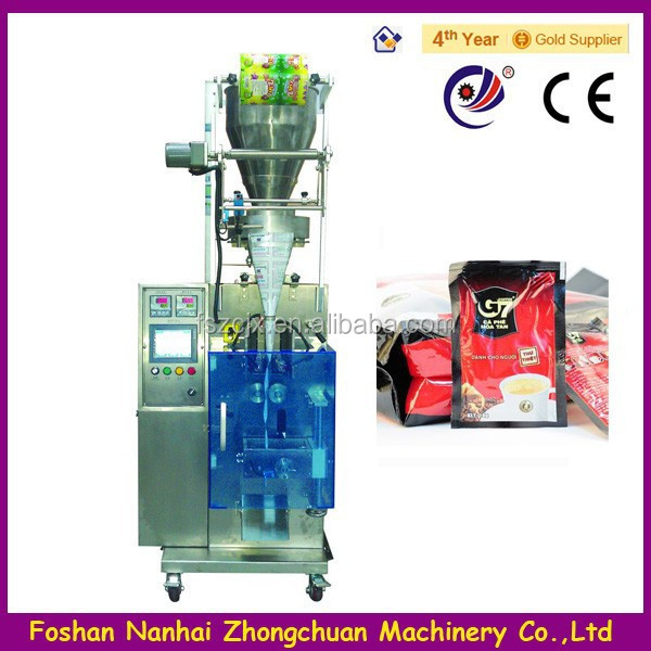3 in 1 Coffee Sachet Automatic Packing Machine In Vertical Type