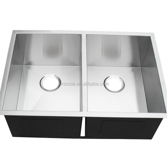 Man Made Stainless Sink, Equal Double Bowl UPC Kitchen Handmade Sink