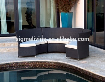 2018 New Designs 6 Seater outdoor sofa round