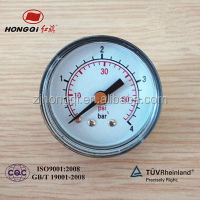 Y-40(1.6'') bar/psi bourdon tube pressure gauge with steel back cover