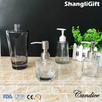 130ml Mini Shampoo Bottles Glass Sensor Shampoo Dispenser