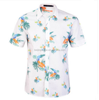 OEM flower printed linen hawaiian shirts wholesale