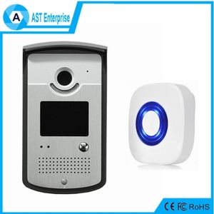 2016 latest wireless ip wifi doorbell video receivers system audio intercom waterproof 64GB TF card supported