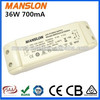Ali express SAA approval 36W Meanwell led switching power supply constant current 700mA led power driver module