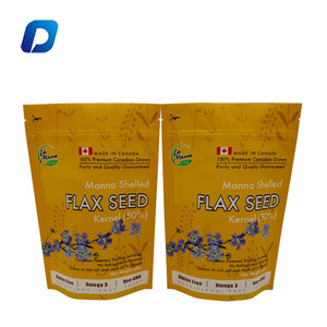 High quality customized plastic doypack bag seed packets with zipper