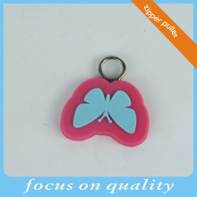 high quality micro injection zipper puller 3d pvc clothes zipper head, rubber charm, pvc charm
