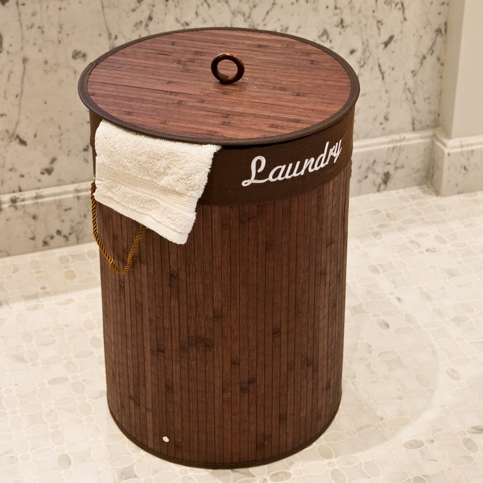 Wash Basket Bamboo Dirty Clothes Laundry Hamper For Babies ...