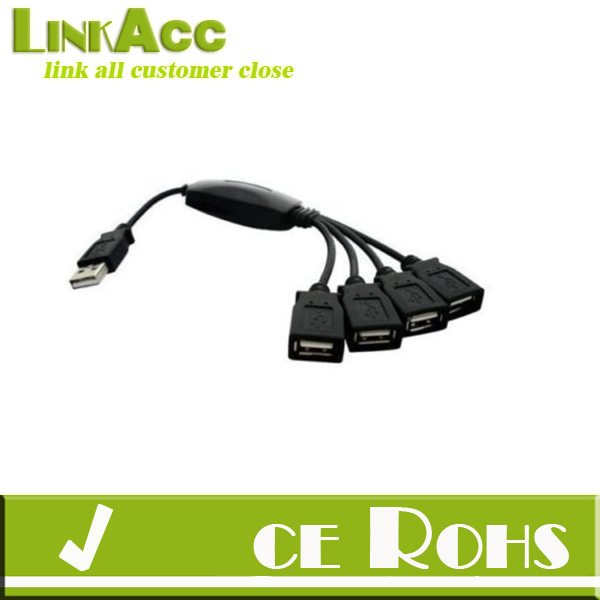 Linkacc-th170 4 Ports USB 2.0 HUB High Speed Splitt Cable Adapter for Laptop PC