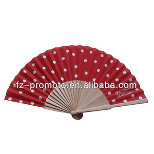 Promotion Advertising ladies hand fans ,spanish wooden hand fans