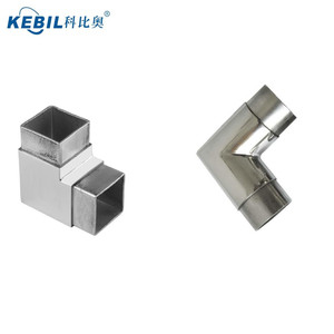AISI 316 Stainless Steel Square Tube Connector / 90 Degree Square Tube Elbow / Handrail
