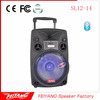New popular trolley speaker enclosure dj ibastek speaker with wireless mic