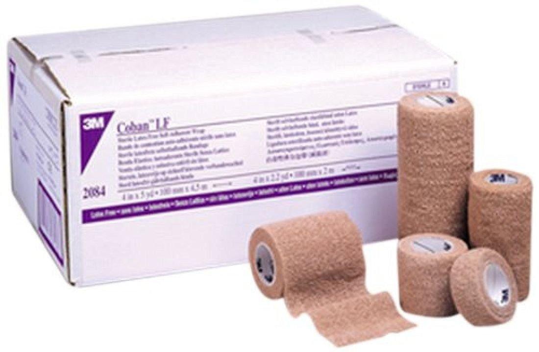 "Coban Sterile Self-Adherent Wrap 4"" x 5 yds., Tan"