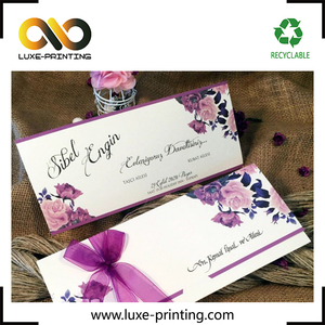 Pantone purple CMYK color Laser Cut Card Luxury Birthday Card Personalized Wedding Invitation Card