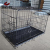 "BAIYI Black 24"", 30"", 36"", 42"", 48"" 2 Door Pet Cage Folding Dog Cage"