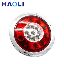 19 LED 10-30V Round Tail Turn Stop Light Truck Rear Light