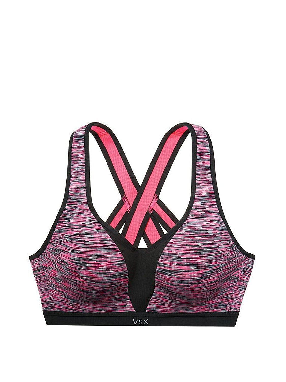 0e504ad7373ee VSX Incredible By Victoria s Secret Strappy Back Sport Bra 34B Black  Spacedye