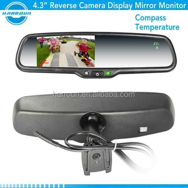 direct factory 4.3 inch LCD rearview mirror monitor for kia