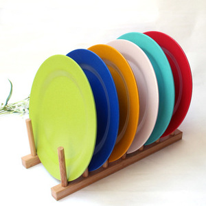 LFGB grade easy clearly safe Square Bamboo Fiber Dinnerware set