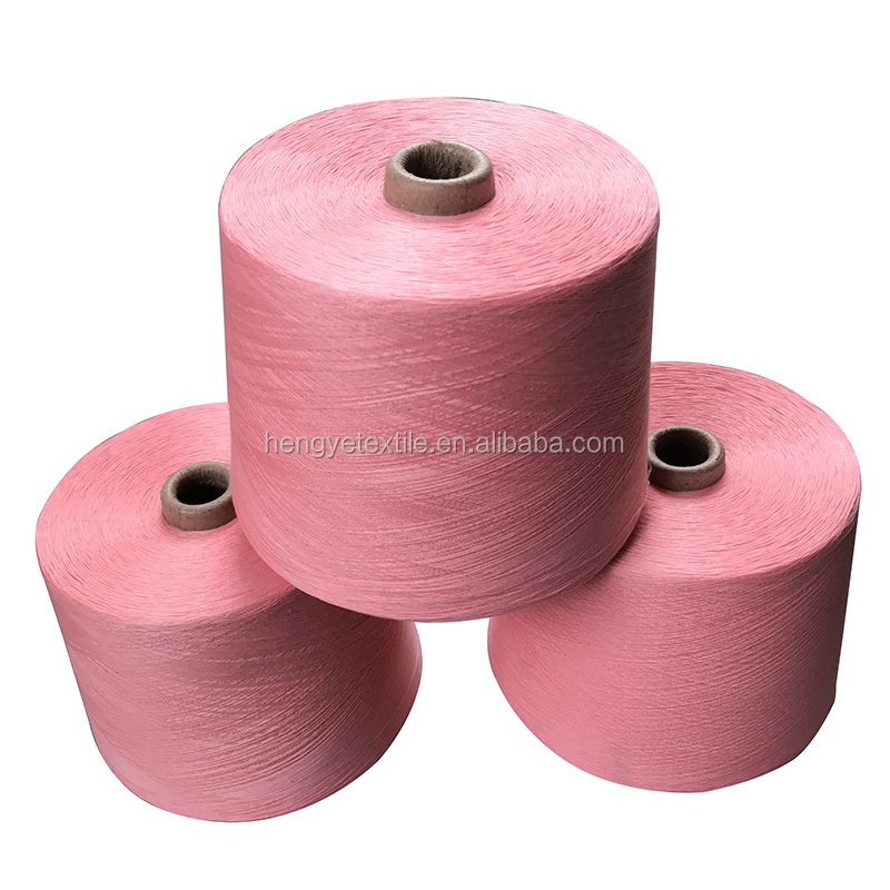 100% dyed recycle polyester ring spun polyester yarn for making socks from factory/manufacturer