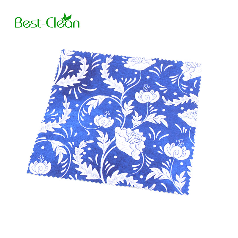 New type silk screen printing microfiber cleaning cloth for glasses