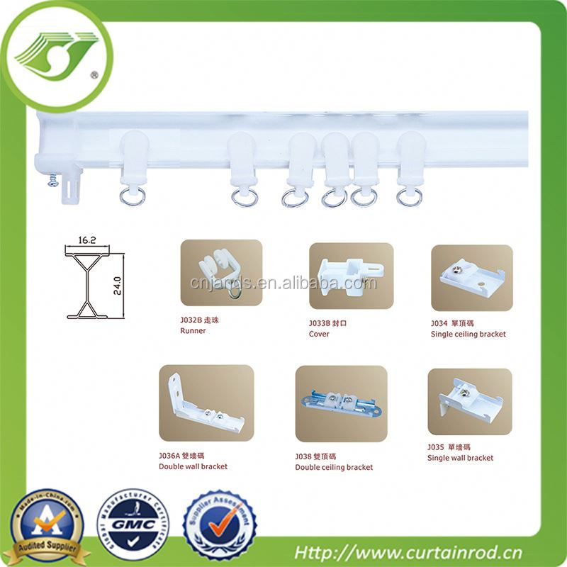 Factory sliding shower curtain track hooks