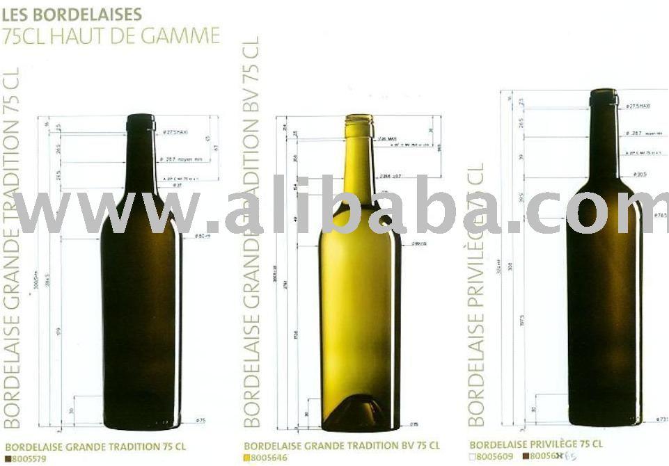 Premium Bordeaux (1) Wine Bottle - Buy Premium Bordeaux Empty Wine Bottle  Product on Alibaba com