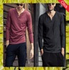 2017 autumn winter new model men's long sleeve plain cotton clothes men t-shirt latest v neck t shirt designs for men
