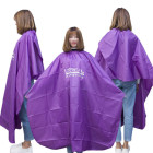 Factory price adult hairdressing hair cutting gown purple barber custom cape