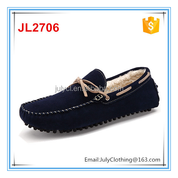 2017 Winter warm man driving casual flat loafer shoes warm floss lazyman footwear