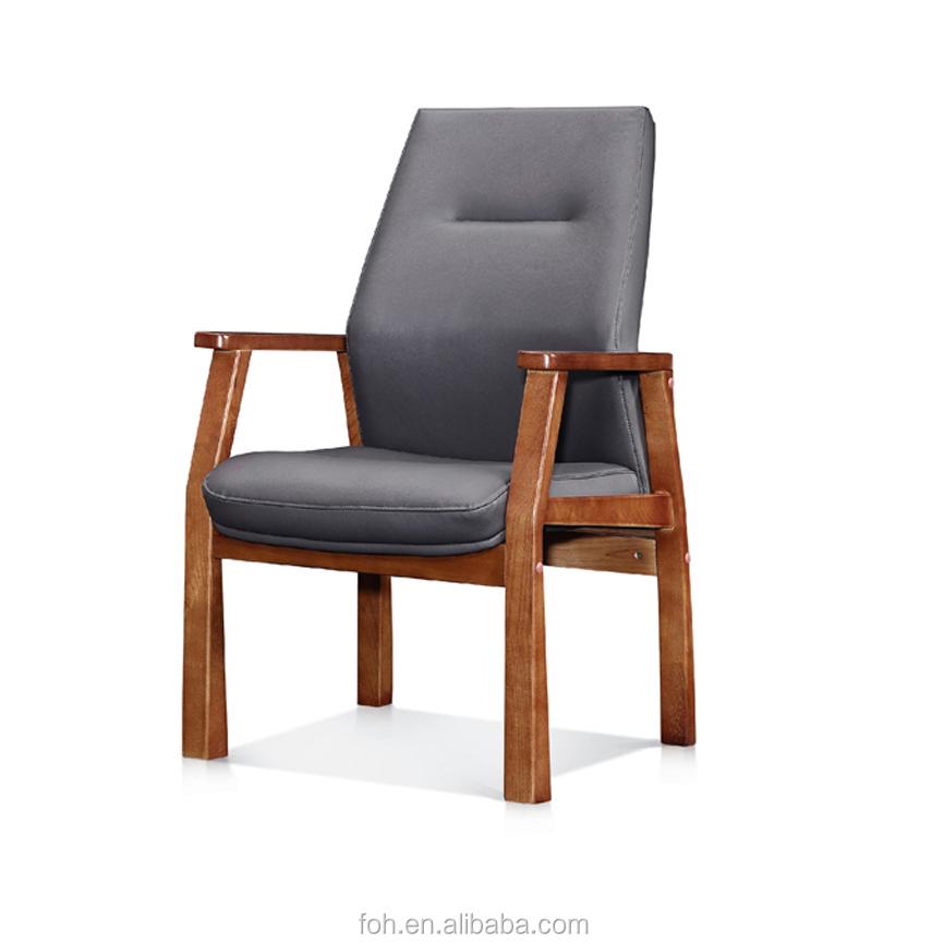 Reception Chair Guest Seat Armchair Wood Office Stool Furniture Rreddish Modern