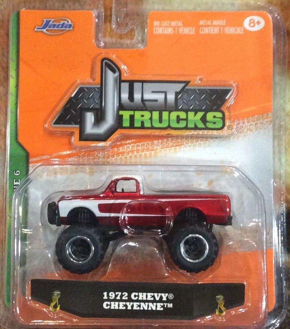 Jada Just Trucks 1972 Chevy Cheyenne 4x4 Red & White 2015 Wave 6 Release