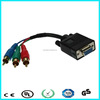VGA male to 3 rca male cable vga to red green blue rgb rca cable