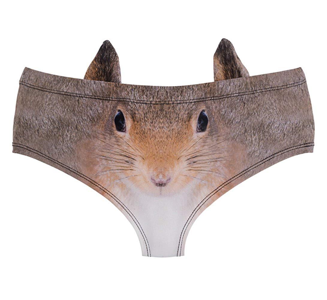 9ea267fe1c0 Get Quotations · Women Novelty 3D Animal Print Briefs Underpants Soft  Seamless Underwear Lingerie Hipster