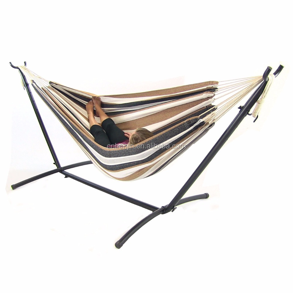 high quality colorful hammock stand folding swing bed for two people