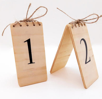 Custom Wood Wedding Table NumbersWood Restaurant Table Numbers - Custom restaurant table numbers
