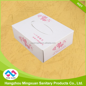 Full Color Printing Box Facial Tissue Paper Double Ply Paper
