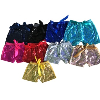 Baby Girls Sequin Shorts Toddler Bling Bling Short Pants Love Wholesale Children Sequin Solid Color Cotton Girl Shorts