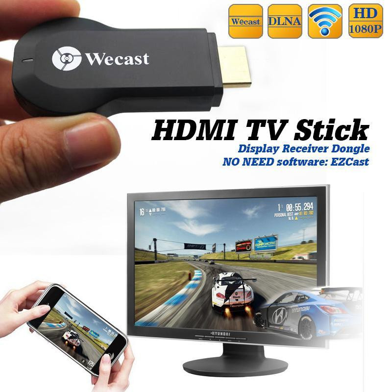 Newest Wecast Video WiFi Display hdmi <strong>Dongle</strong> DLNA Miracast <strong>dongle</strong> for iphone 6 5 Samsung phones ,etc.