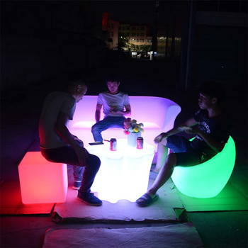 light up furniture event wedding party outdoor club led furniture set sectional sofas chair table with lighting