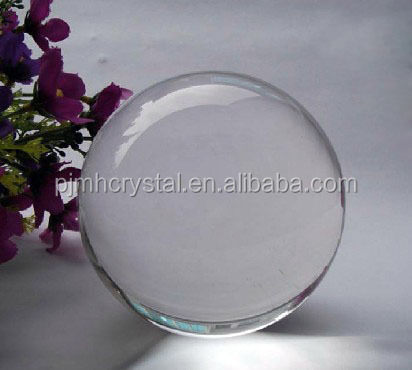 Polished Technique and Europe Regional Feature Natural Clear Crystal / Glass Earth Ball in Hand MH-Q0020