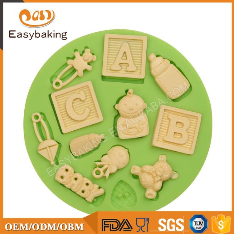 ES-1218 ABC BABY Silicone Mold Fondant Molds