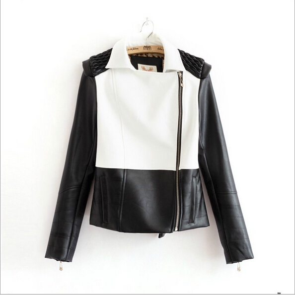 2014 three-color leather motorcycle jacket ramp zipper winter clothes slim thin coat women short paragraph pu leather YL0591c