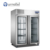 Commercial Kitchen Refrigeration Equipment FURNOTEL Industrial Glass Door Fruit and Vegetable Refrigerator FRCF-3-3