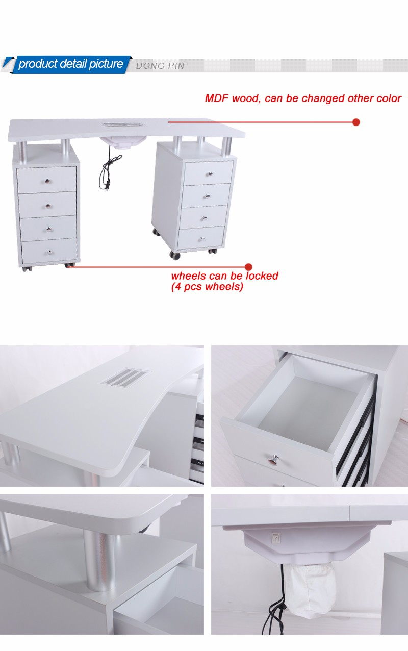 manicure nail table with ventilation, View nail salon equipment ...