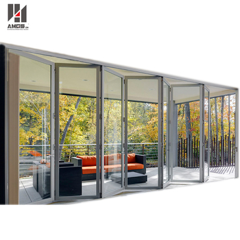 Modern Design Aluminum Accordion Folding Door,aluminum Accordion Sliding  Doors