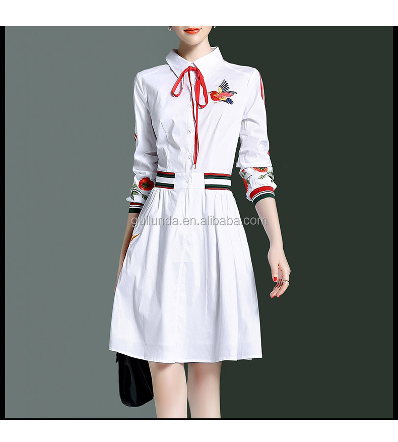 Hottest fashion top quality young women new style white latest dress