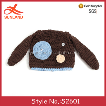 S2601 New Arrivals 2017 Winter Dog Patterns Hand Knit Boy Kids Baby